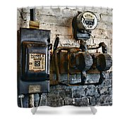 Electrical Energy Safety Switch Shower Curtain by Paul Ward