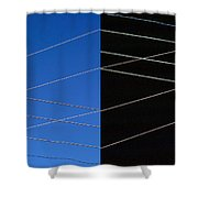 Electrical Grid Shower Curtain