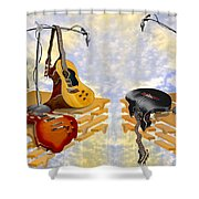 Electrical Meltdown 3 Shower Curtain