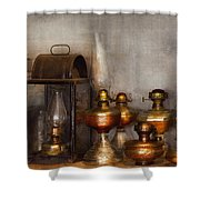 Electrician - A Collection Of Oil Lanterns  Shower Curtain