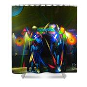 Electronic Dance Trance Shower Curtain