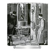 Electroplating The Dead, 1891 Shower Curtain