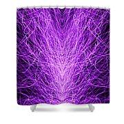 Electrostatic Purple Shower Curtain