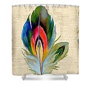 Elegant Feather-b Shower Curtain