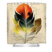 Elegant Feather-c Shower Curtain