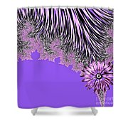 Elegant Tentacles Purple And Lilac Shower Curtain