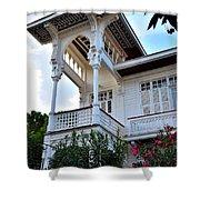 Elegant White House And Balcony Shower Curtain