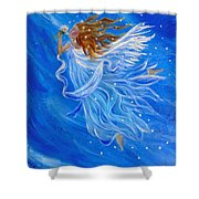 Elemental Earth Angel Of Wind Shower Curtain