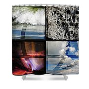 Elemental Forces Shower Curtain