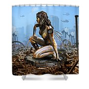 Elements - Metal Shower Curtain