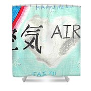 Elements Of Love Air Shower Curtain