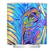 Elephant - Sky Blue Shower Curtain