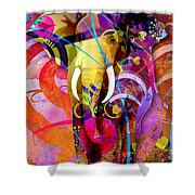Elephant 007 - Marucii Shower Curtain
