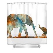 Elephant 01-2 Shower Curtain