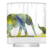 Elephant 01-5 Shower Curtain