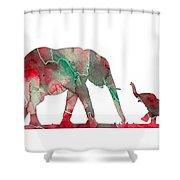 Elephant 01-6 Shower Curtain
