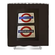 Elephant Castle And Leicester Square Shower Curtain