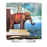 Elephant Castle Shower Curtain