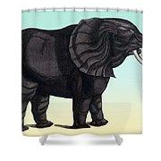 Elephant From The Historiae Animalium 16th Century Shower Curtain