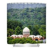 Elephant House At Cincinnati Zoo And Botanical Garden Shower Curtain by Paul Velgos