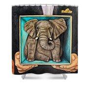 Elephant In A Box Edit 2 Shower Curtain