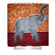 Elephant N Time Out Shower Curtain