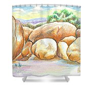 Elephant Rocks State Park II  No C103 Shower Curtain