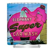 Elephant Super Car Wash Shower Curtain