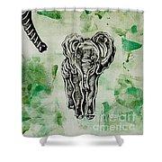 Elephant Walk Shower Curtain