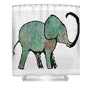 Elephant Water Color Shower Curtain