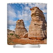 Elephant's Feet Rock Formation Shower Curtain