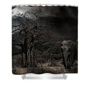 Elephants Of The Serengeti Shower Curtain