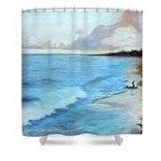 Eleutheran Seashore Shower Curtain