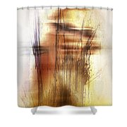 Elevate With Message  Shower Curtain