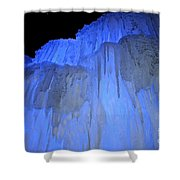 Elevated Blue Shower Curtain
