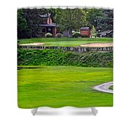 Elevated Green Shower Curtain