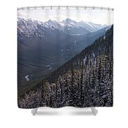 Elevated View Down U-shaped Valley Shower Curtain
