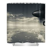 Elevated View Of Caribbean Sea Shower Curtain