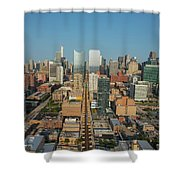 Elevated View Of Cityscape, Lake Street Shower Curtain