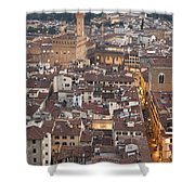 Elevated View Of Florence Shower Curtain