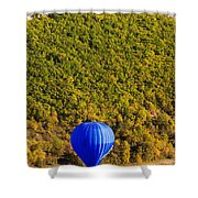 Elevated View Of Hot Air Balloon Shower Curtain