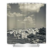 Elevated View Of The New Town, Umm Shower Curtain