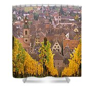 Elevated View Of The Riquewihr Shower Curtain