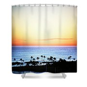 Elevated View Of The Sunset Shower Curtain