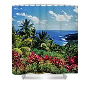 Elevated View Of Trees And Plants Shower Curtain