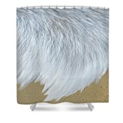 Elevated View Of Waves In Motion, Playa Shower Curtain