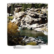 Eleven Mile Canyon - Mountain Stream Shower Curtain