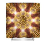 Eleven Sacred Steps Of Light K1 Shower Curtain by Derek Gedney
