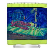 Elf And His Magical Slippers Shower Curtain