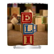 Eli - Alphabet Blocks Shower Curtain